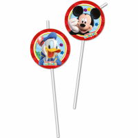 Kinderfeest Mickey Mouse Rietjes 6st