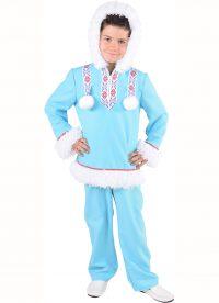 Kostuum Eskimo Ijsblauw Jongen