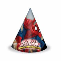 Kinderfeest Spiderman Feesthoedjes 6st