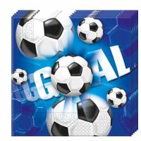 Kinderfeest Voetbal Servetten 20st 33x33cm