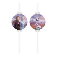 Kinderfeest Frozen II Rietjes 4st