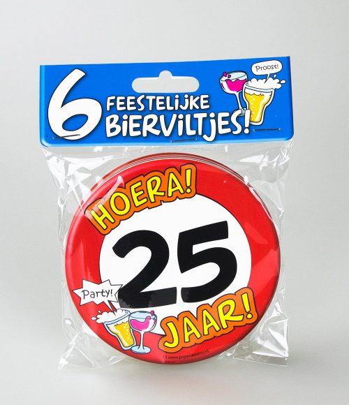 6st Bierviltjes 13-Hoera 25 jaar