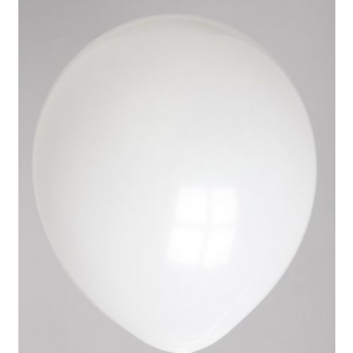 "100st Pastel Ballonnen 12"" Wit-045"