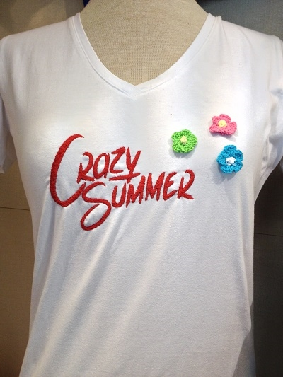 "T-Shirt Wit ""Crazy Summer"" Dames"