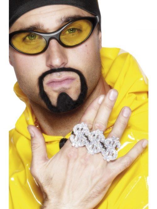 3 Dollartekens-Ring Zilver Glitter