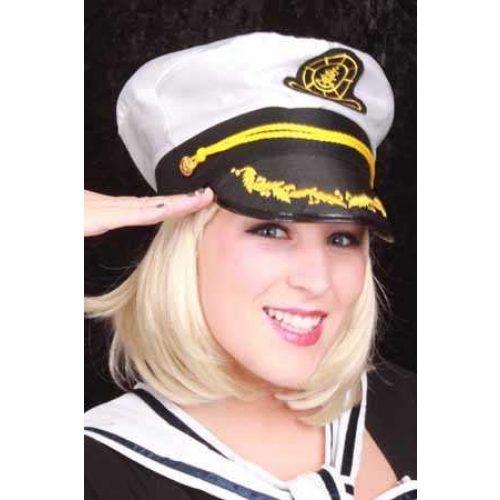 Admiraalspet Wit/Zwart Mt.57-59-61
