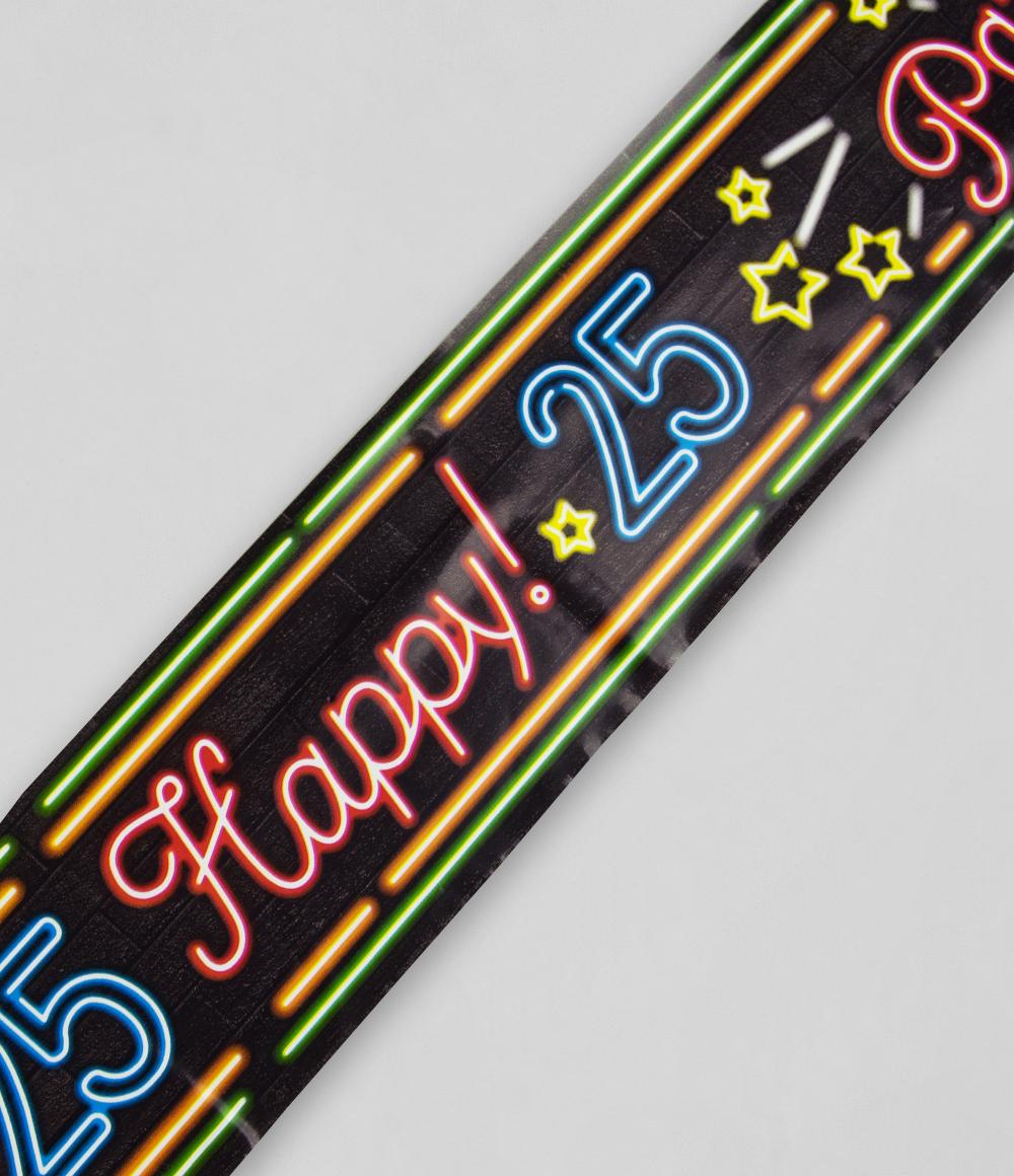 12m Afzetlint Neon 25 Jaar