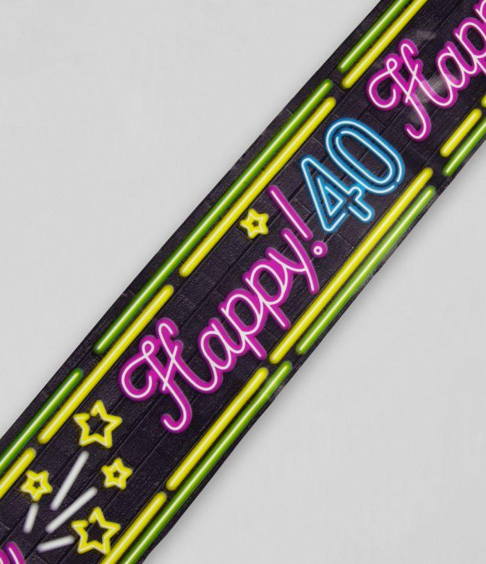 12m Afzetlint Neon 40 Jaar