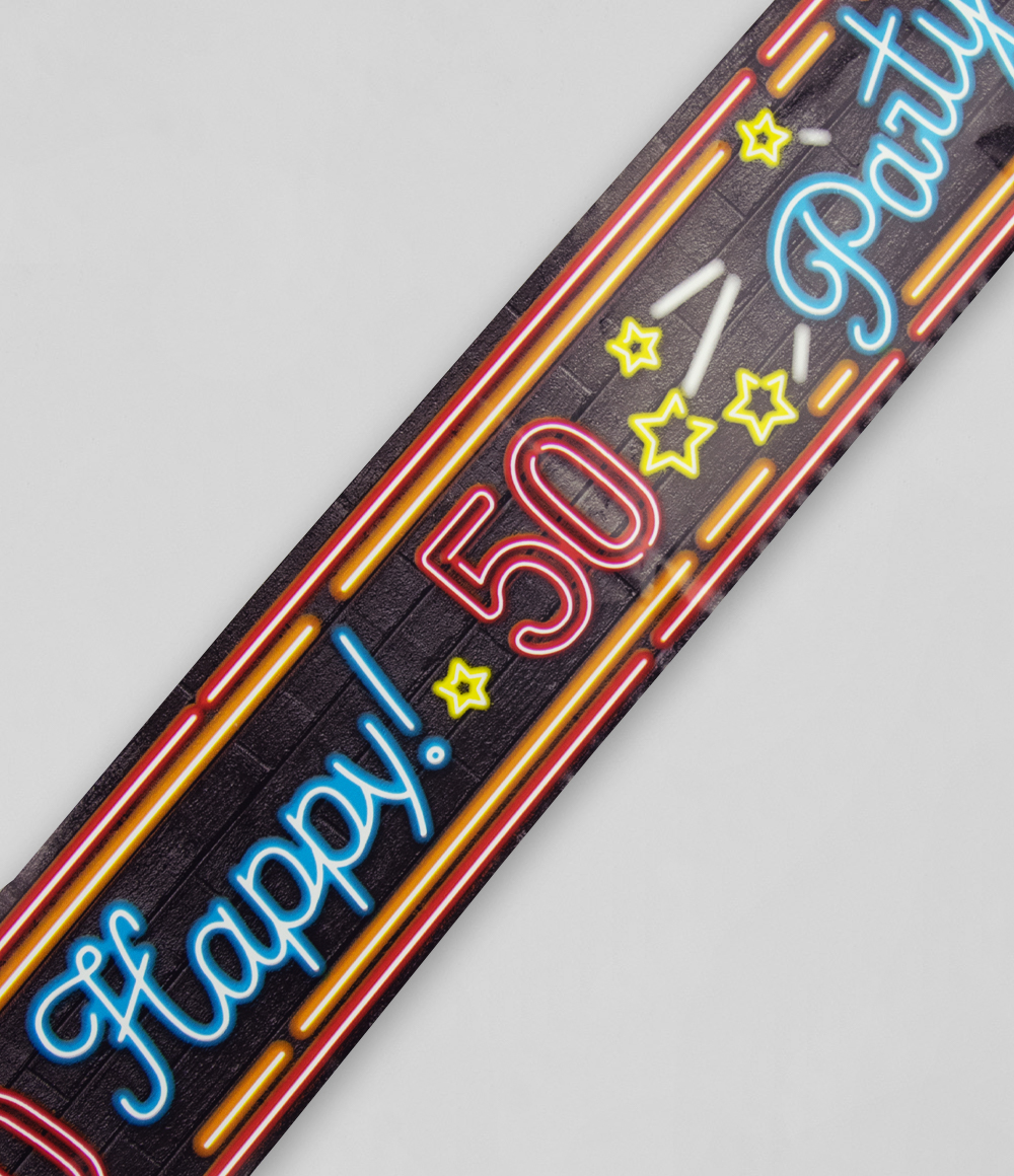 12m Afzetlint Neon 50 Jaar