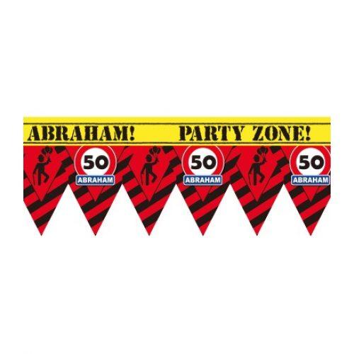 12m Afzetlint Verkeersbord 50/Abraham