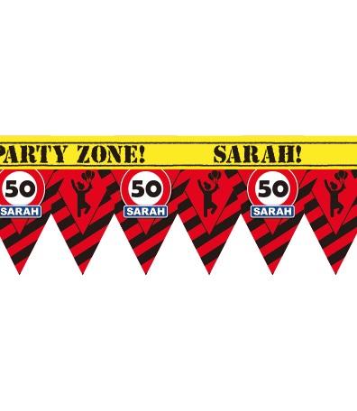 12m Afzetlint Verkeersbord 50/Sarah