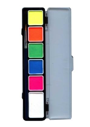Aqua Schminkpalet 6kleuren Fluor/Neon