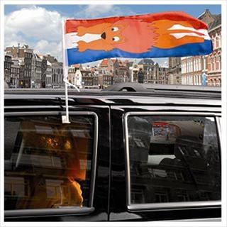 Autovlag Holland Leeuw 60x20 cm