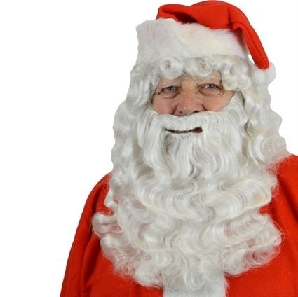 Baardstel Kanekalon Kerstman (2)