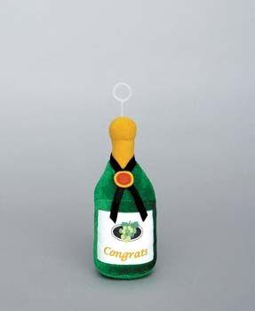 Ballon gewicht Champagnefles Pluche