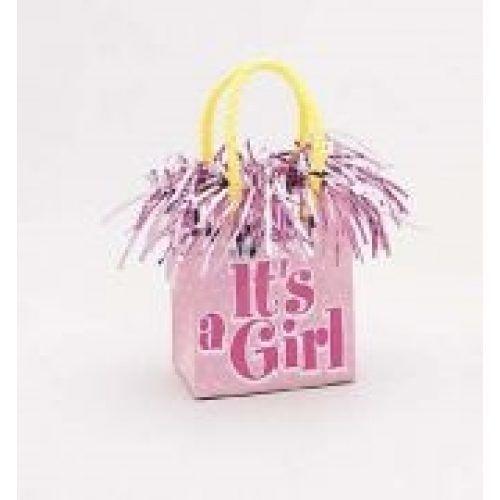 Ballon gewicht It's a Girl Roze