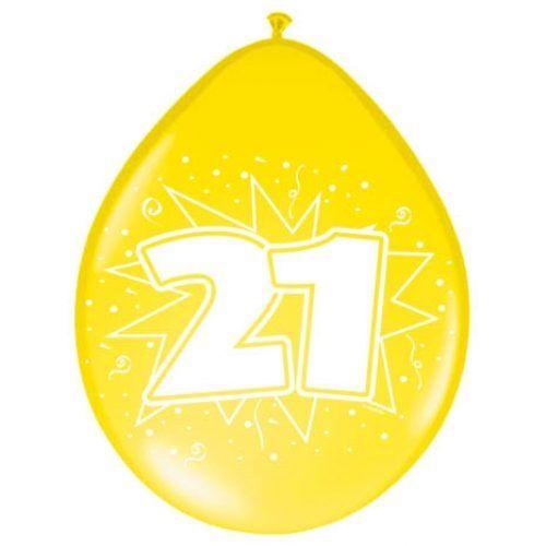 8st Ballonnen Hoera 21 jaar