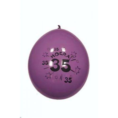 10st Ballonnen Hoera 35 jaar 12''