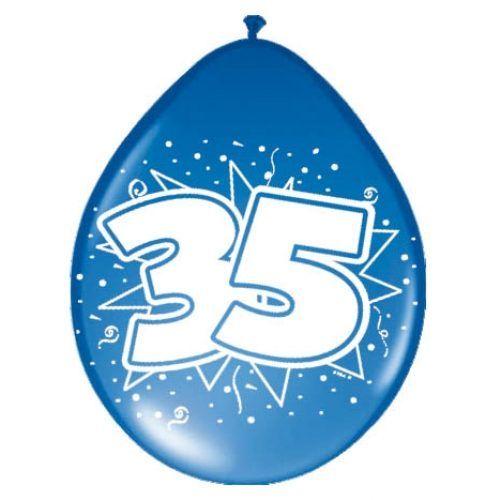 8st Ballonnen Hoera 35 jaar