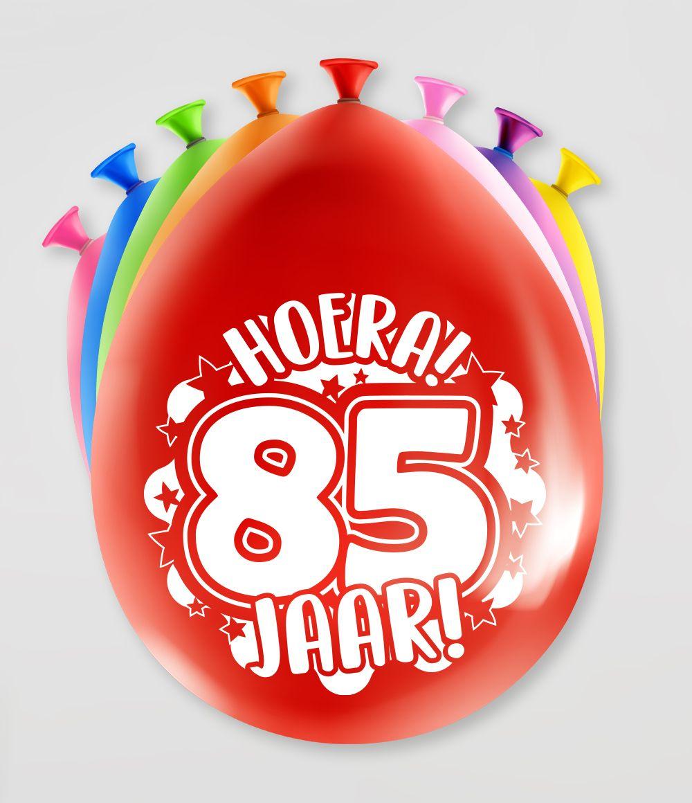 """8st Ballonnen Hoera! 85 Jaar! 12"""""""