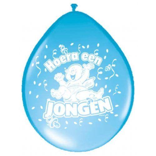 8st Ballonnen Hoera een Jongen