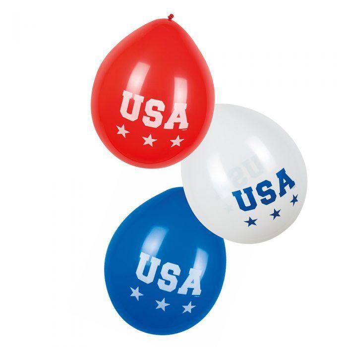 "6st Ballonnen ""USA"" American Party 25cm"