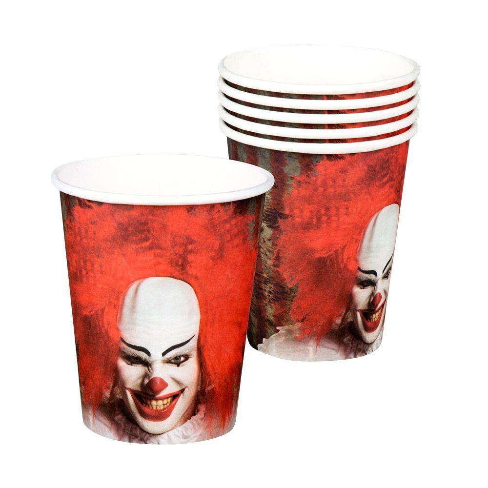 6st Bekertjes Horror Clown It 250ml