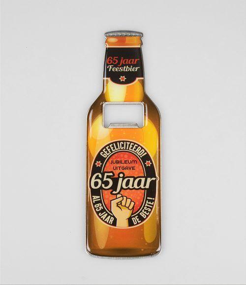 Bieropener Magneet 65 Jaar
