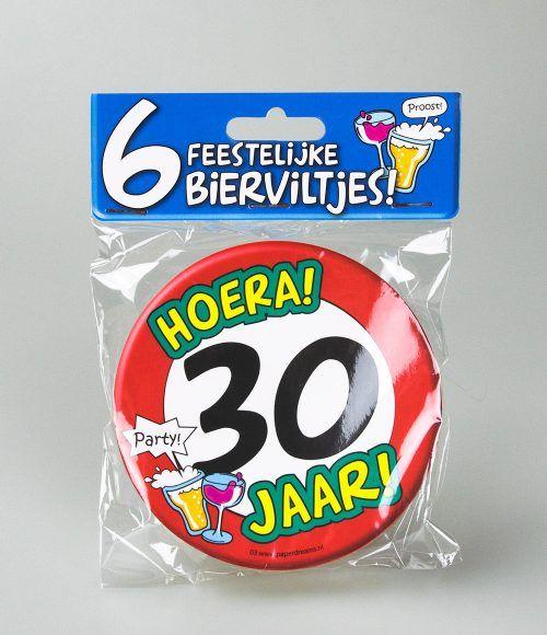 6st Bierviltjes 03-Hoera 30 jaar
