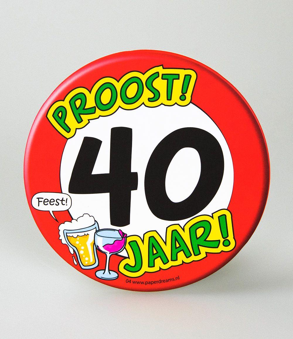 6st Bierviltjes 04-Hoera 40 jaar
