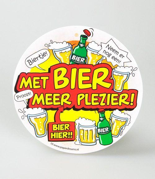 6st Bierviltjes 10-Met bier meer plezier