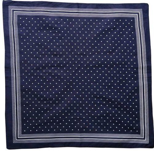 Boerenzakdoek Stip D.Blauw/Wit 55x55cm