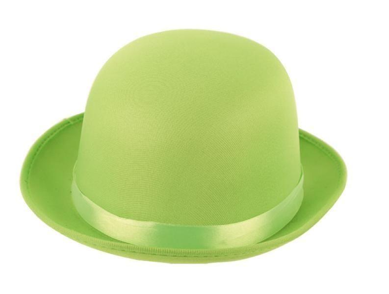 Bolhoed Satijn Fluor/Neon Groen