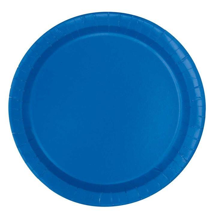 16st Bordjes Uni Blauw 23cm
