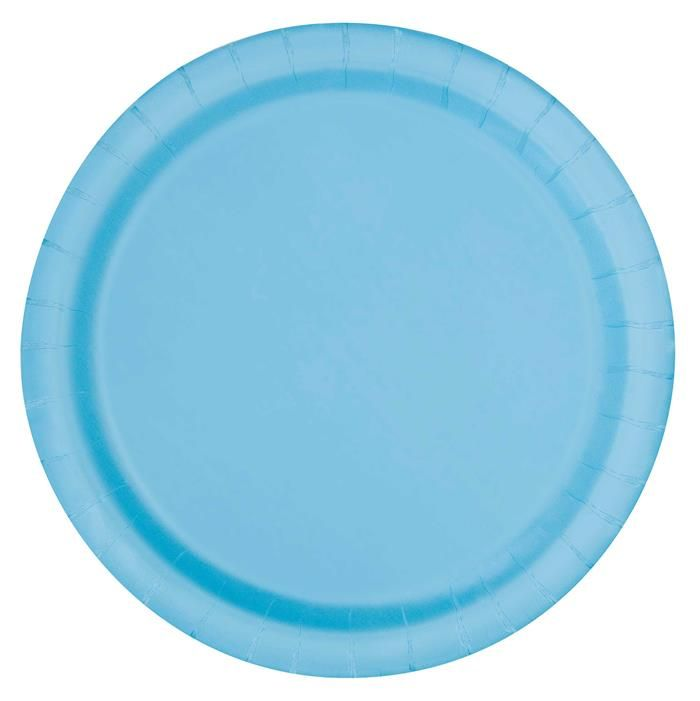 20st Bordjes Uni Licht Blauw 18cm