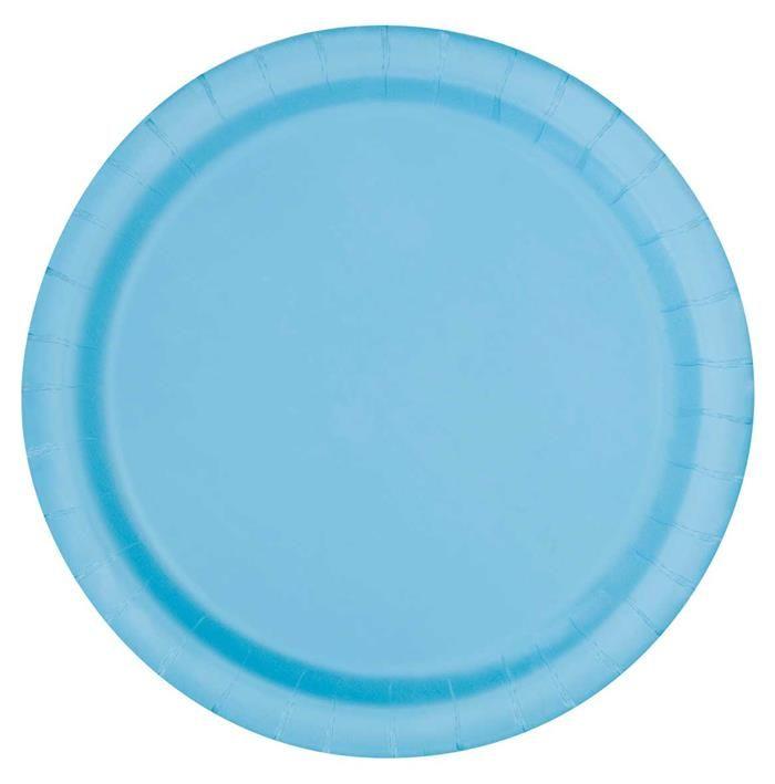 16st Bordjes Uni Licht Blauw 23cm
