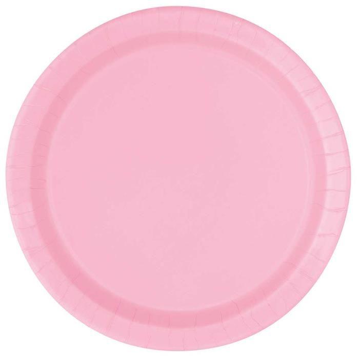 20st Bordjes Uni Licht Roze 18cm