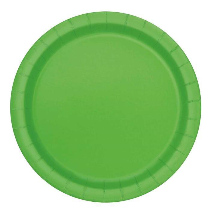 20st Bordjes Uni Lime Groen 18cm