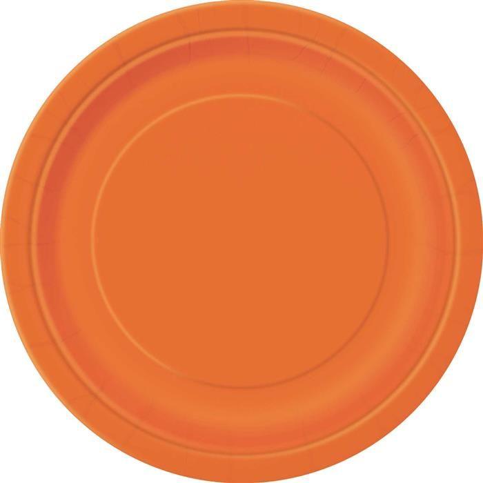 16st Bordjes Uni Oranje 23cm