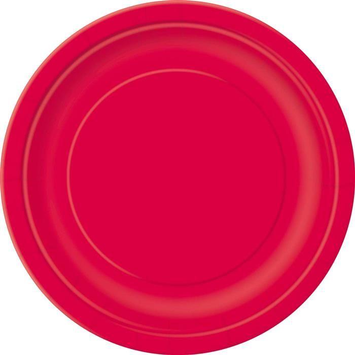 16st Bordjes Uni Rood 23cm