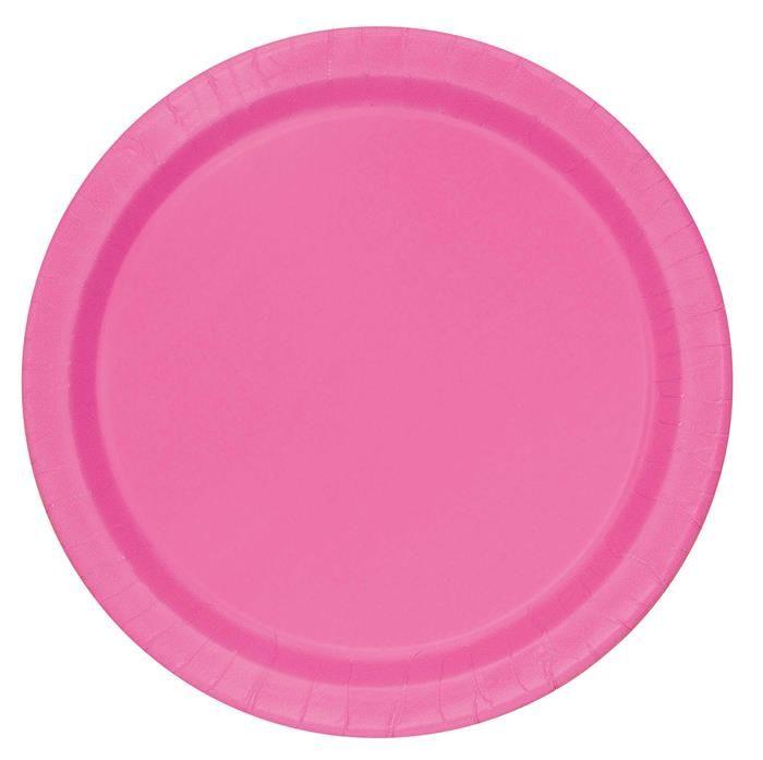 20st Bordjes Uni Roze 18cm