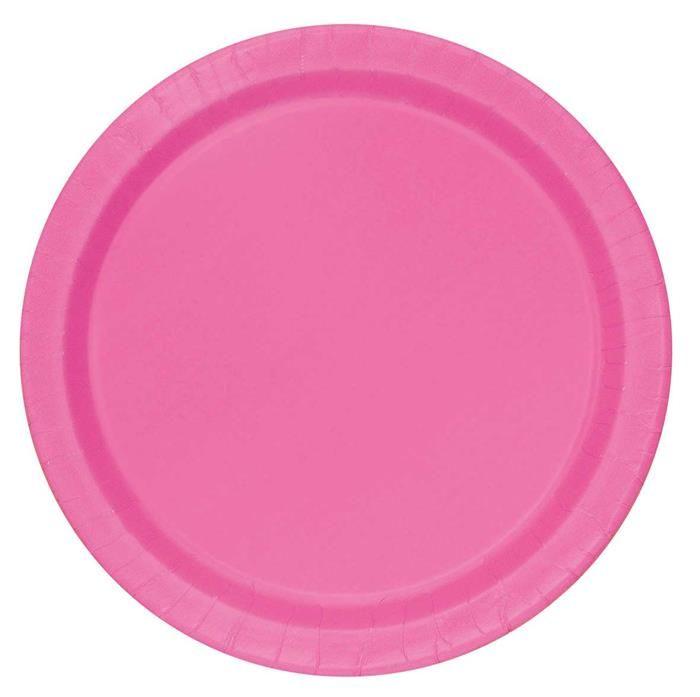 16st Bordjes Uni Roze 23cm