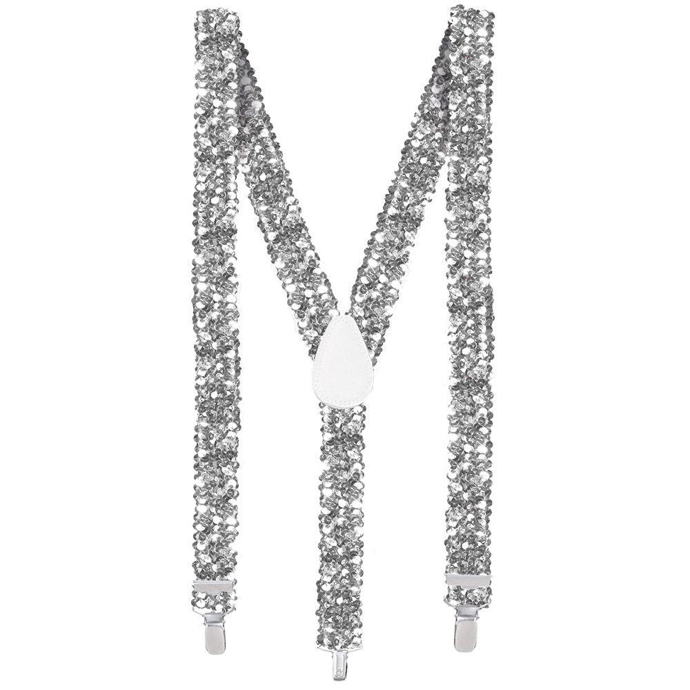 Bretels met Pailletten Zilver 25mm