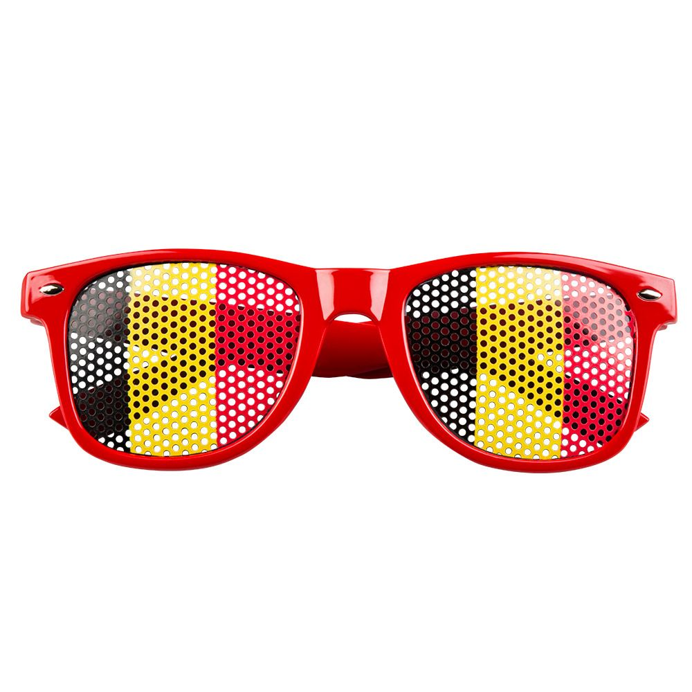 Bril België Zwart/Geel/Rood