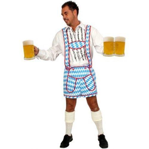 Broek Oktoberfest Blauw/Wit Heren
