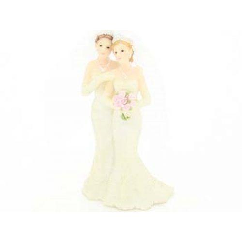 Bruidspaar 2 vrouwen 11cm