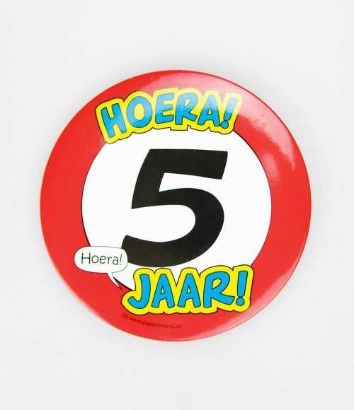 Button XL 5 jaar
