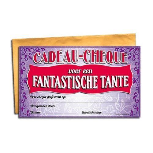 Cadeau Cheque Fantastische Tante