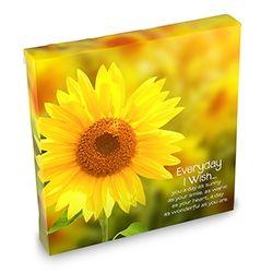 Canvas Art Everyday I Wish/Sunflower