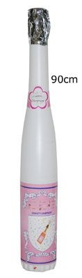 Champagnefles Kanon Wit 60cm
